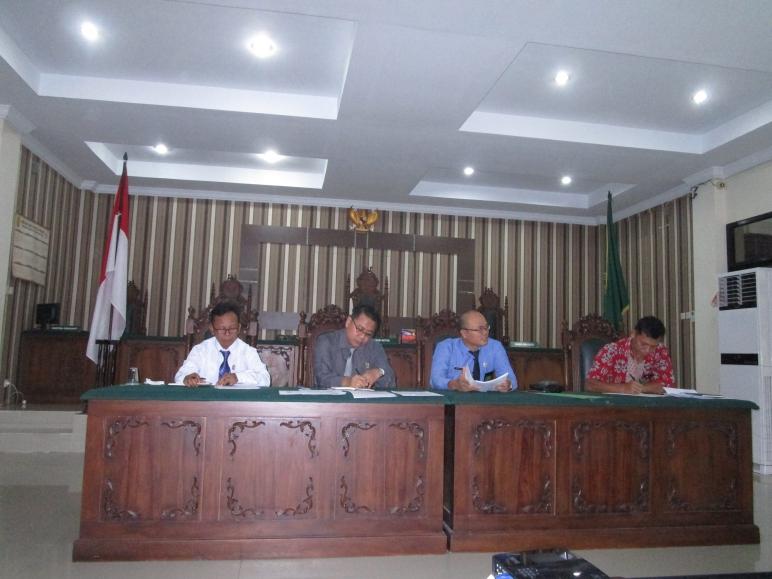Rapat Bulanan, Pembinaan dan Pengawasan Pengadilan Negeri Sintang Kelas II bulan November 2019