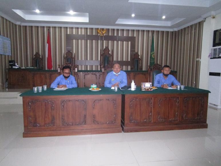 Rapat Bulanan, Pembinaan dan Pengawasan Bulan Desember Tahun 2020 Pengadilan Negeri Sintang